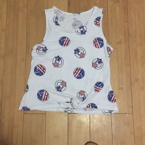 4th of July cute tank top